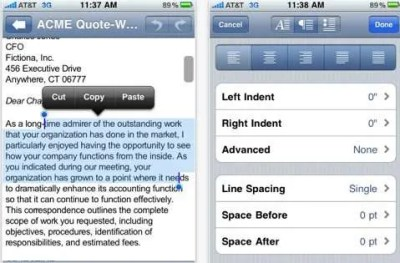 Use DocsToGo to open documents in multiple formats on your mobile device.