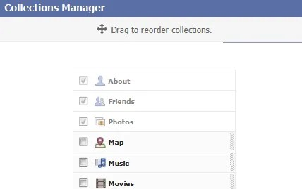 Facebook Collections Manager