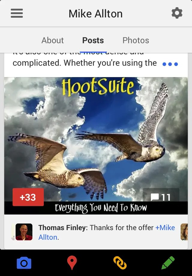 New Comment Cards on Google+
