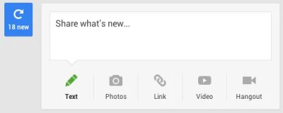 Google+ new items