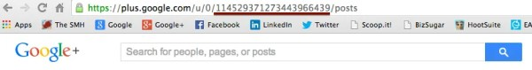 Find the Google+ User ID in their profile URL.