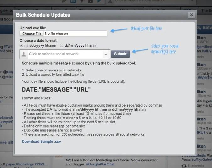 How to Bulk Schedule HootSuite Posts.