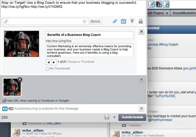 How to use HootSuite to share an image