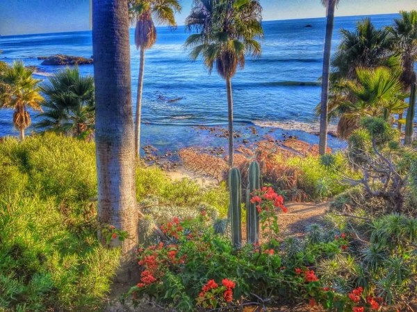 Laguna Beach image, with HDR Scape applied.