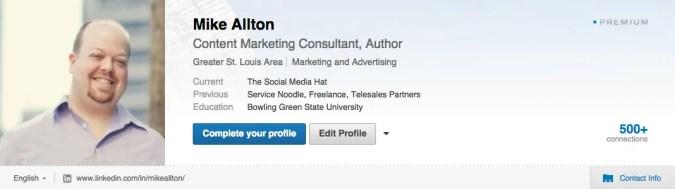 LinkedIn Header for Mike Allton