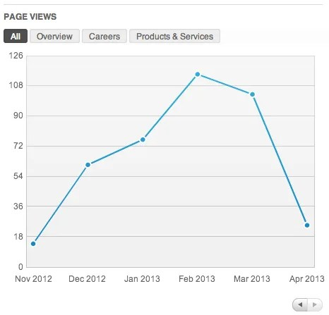 LinkedIn Page Views
