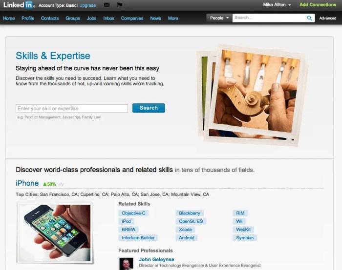 LinkedIn Skills & Expertise