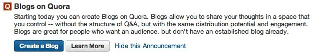 Create a Blog on Quora