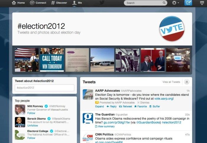 Twitter launches 2012 Election Page