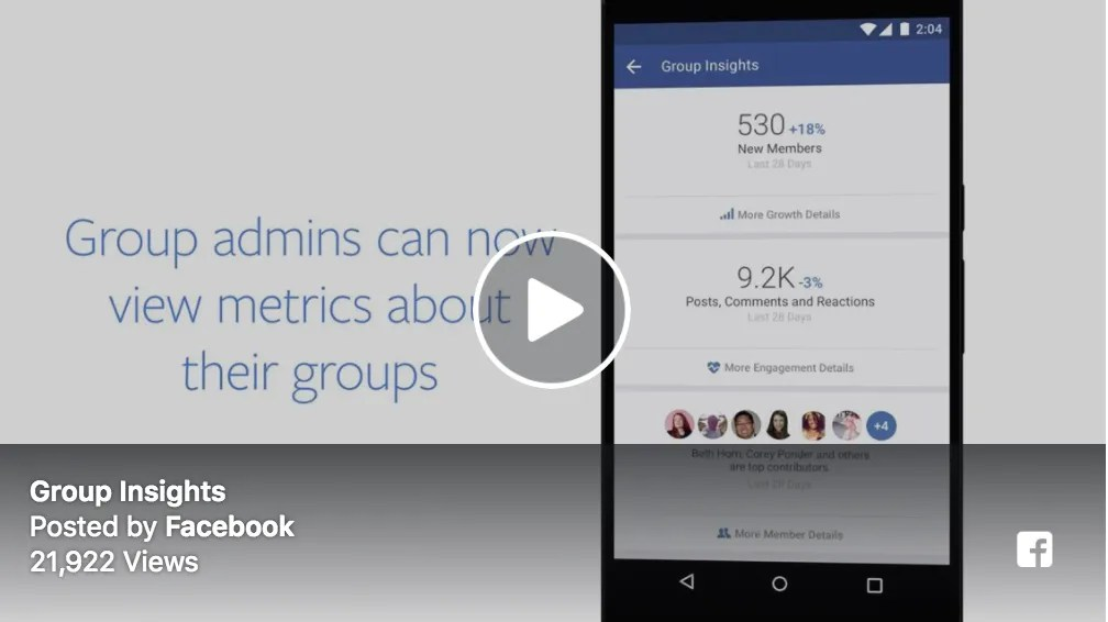 Video from Facebook Community Summit