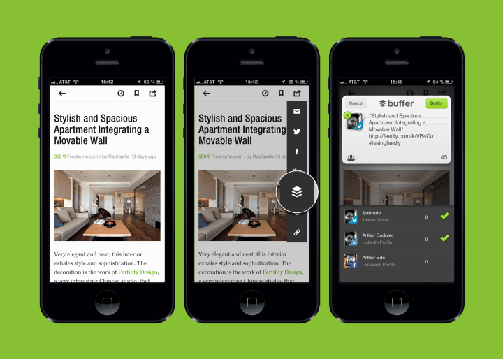 Feedly + Buffer creates a seamless news sharing experience.