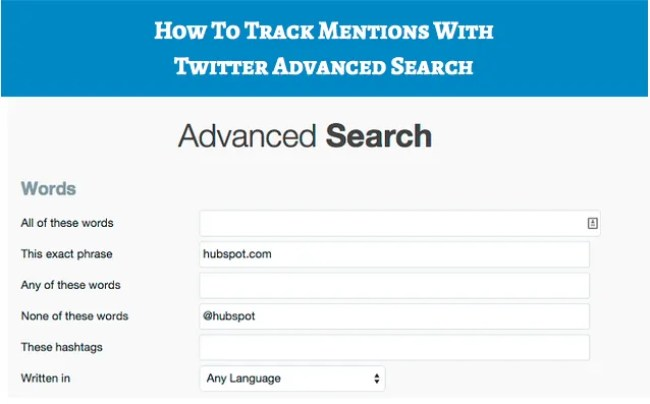 Track Twitter Mentions
