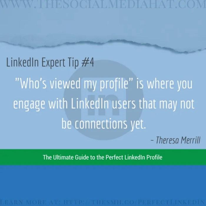 Expert LinkedIn Tip from Theresa Merrill