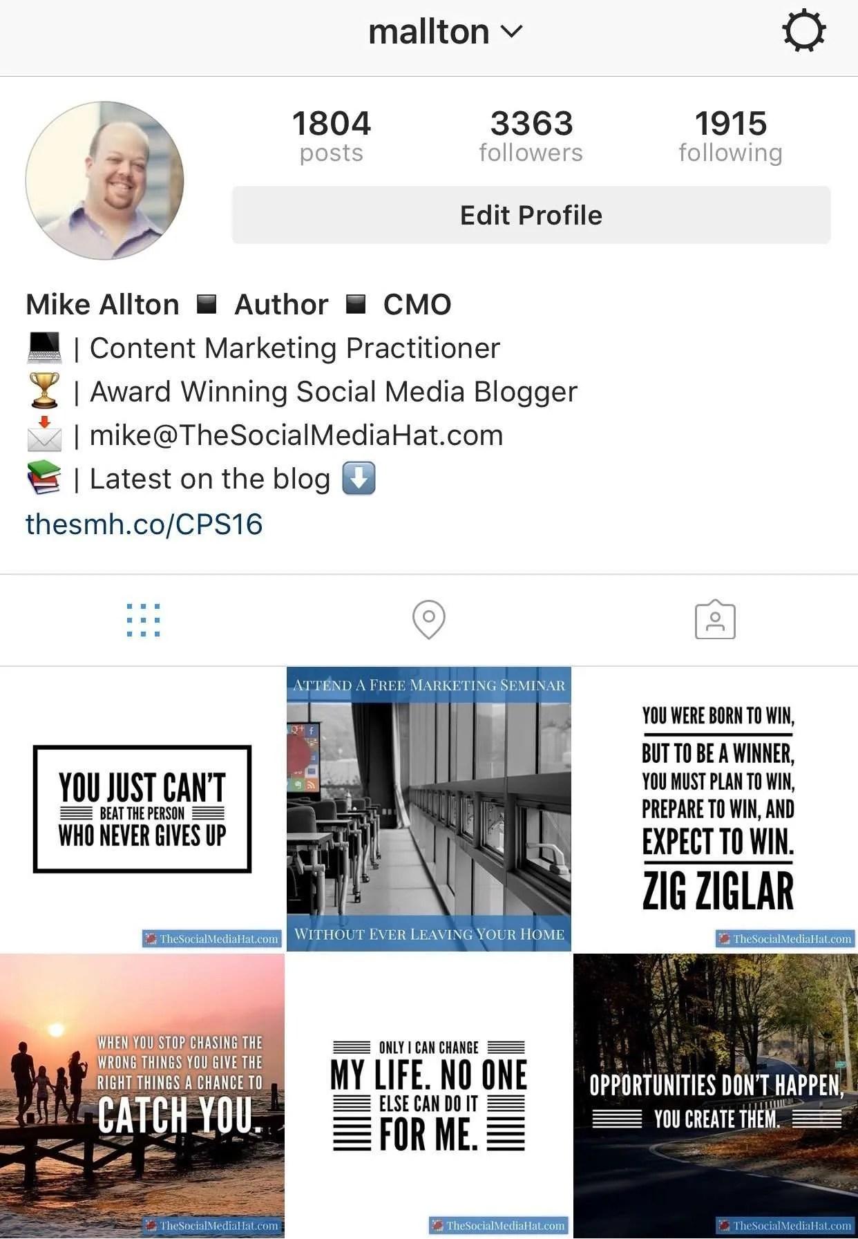 Mike Allton on Instagram