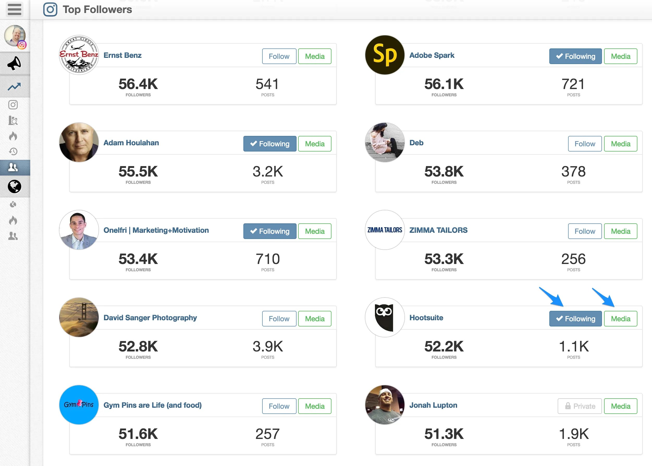 Use Tailwind to identify influencers on Instagram.