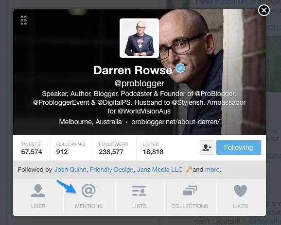 Display Twitter user profiles within TweetDeck.