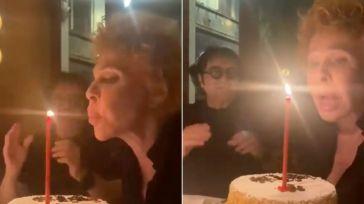Ornella Vanoni soffia sulla candelina, ma non si spegne: il video dalla festa di compleanno con Renato Zero