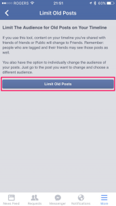 Limit Old Posts in Facebook