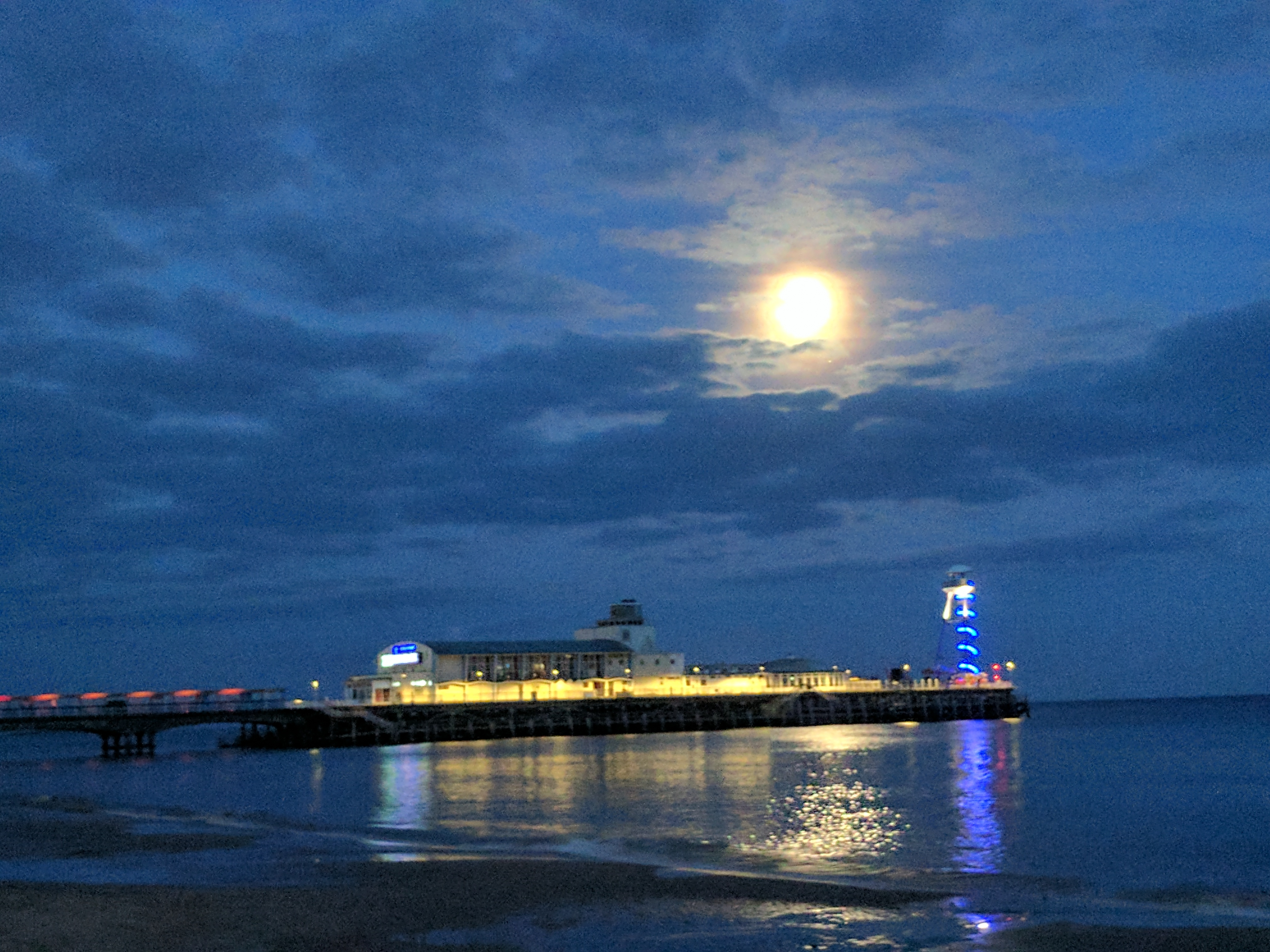 Bournemouth Pier Moonlight