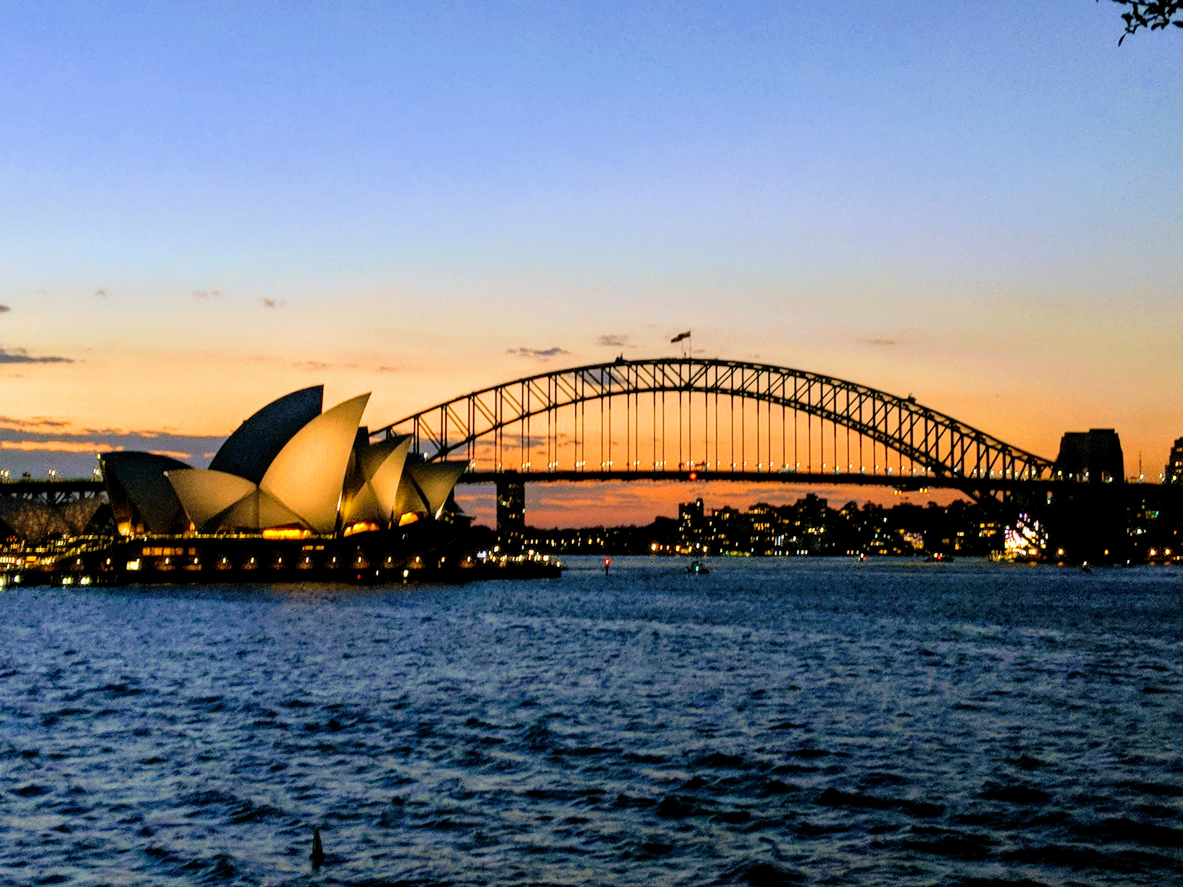 Sydney Harbour At Sundown
