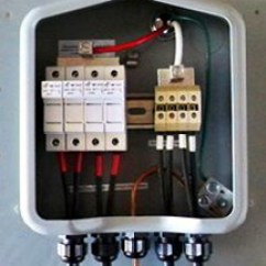 Distribution Board Wiring Diagram Dichotomous Key Step By Guide To Installing A Solar Photovoltaic System Notice Four Sets Of Wires Positive And Negative Entering At The Bottom Marked With Tape Red For Ungrounded Conductors