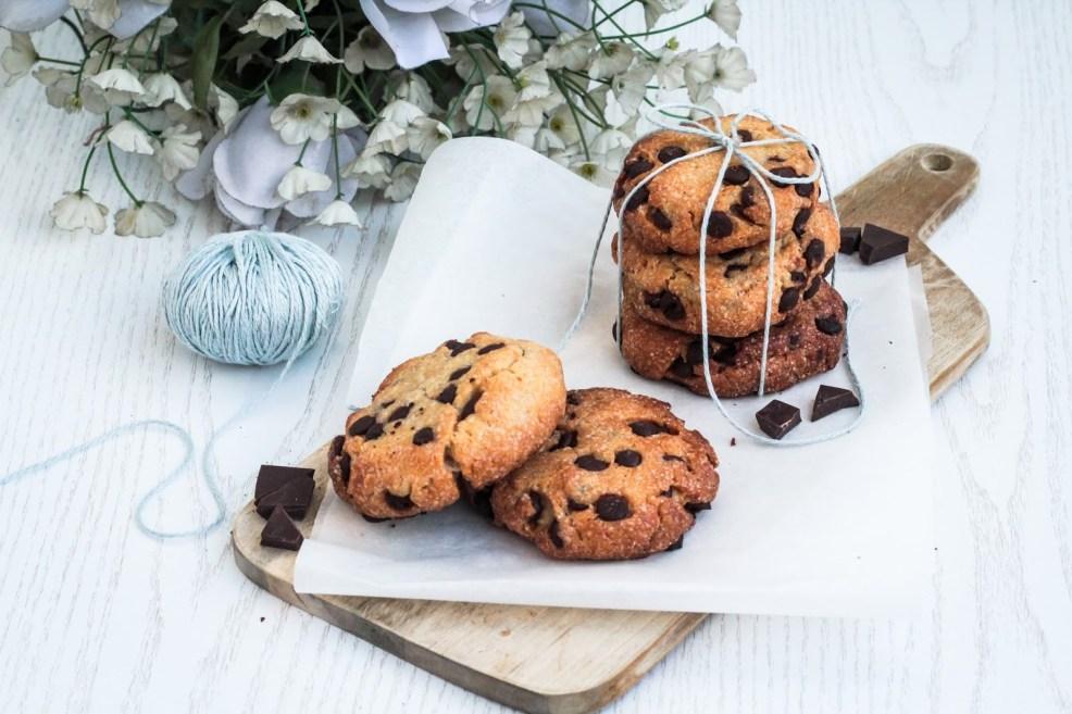 Saftige Süßkartoffel Cookies mit dunkler Schokolade - vegan, glutenfrei und kalorienreduziert
