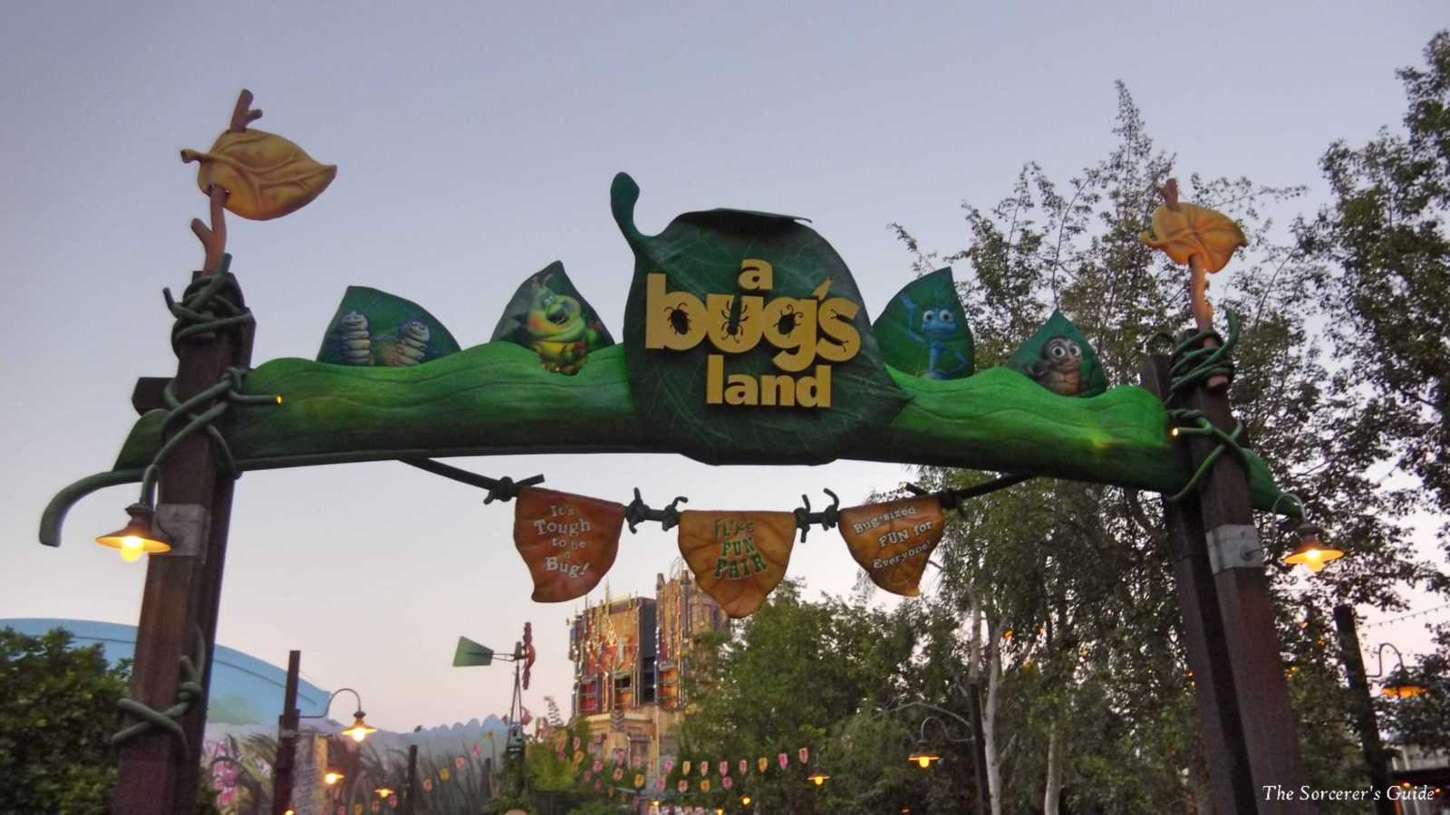 A Bug's Land entrance sign