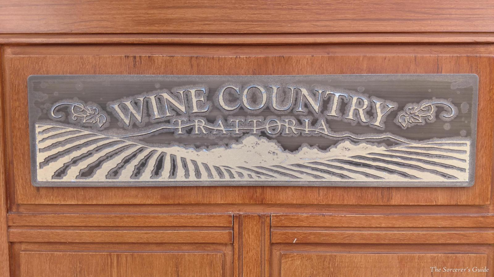 Wine Country Trattoria Sign