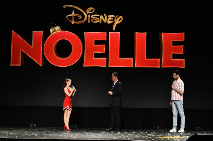 The cast of Noelle, the first Christmas movie coming to Disney+, introduces the story at the Disney+ Sneak Peak at the 2019 D23 Expo.