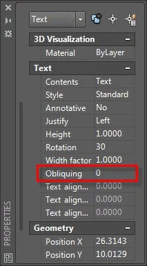 oblique angle in isometric text