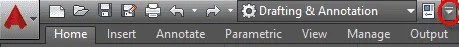 Quick access toolbar of AutoCAD