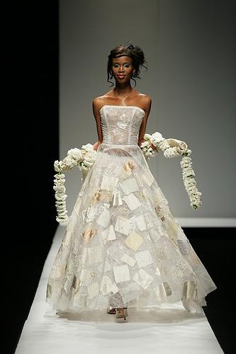 One of Marianne Fassler's wedding dress designs