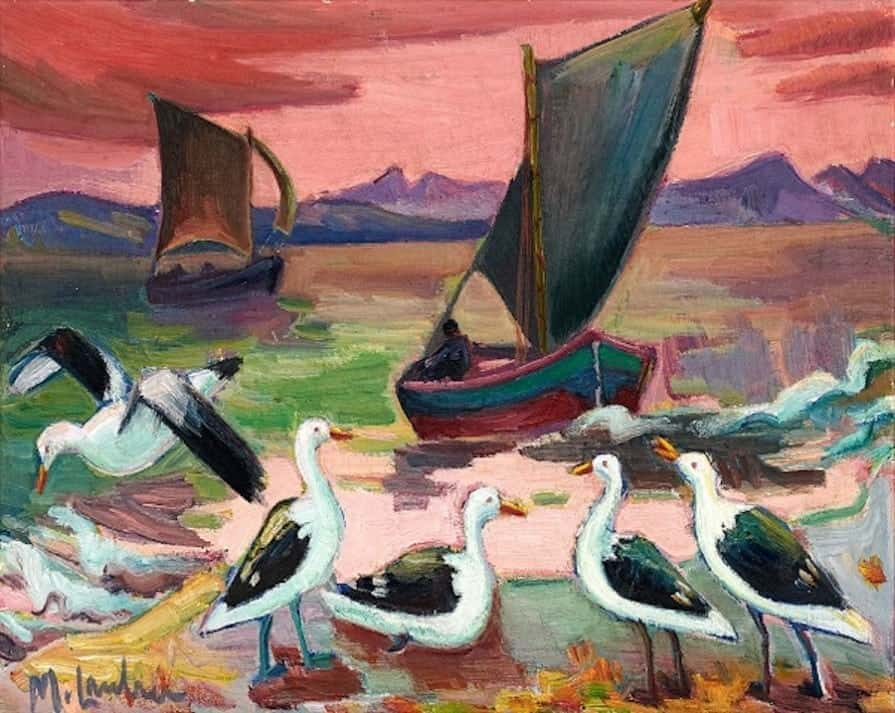 Maggie Laubser Birds and Boats R700 000 - R900 000