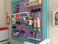 Craft Room Organization with a Framed Pegboard - Southern ...