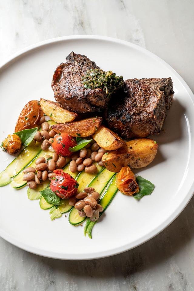 A plate of food from a Birmingham, Alabama restaurant.
