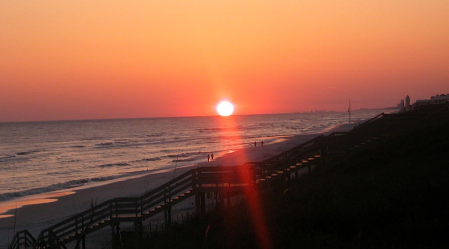 A sunset in Rosemary Beach, Florida.