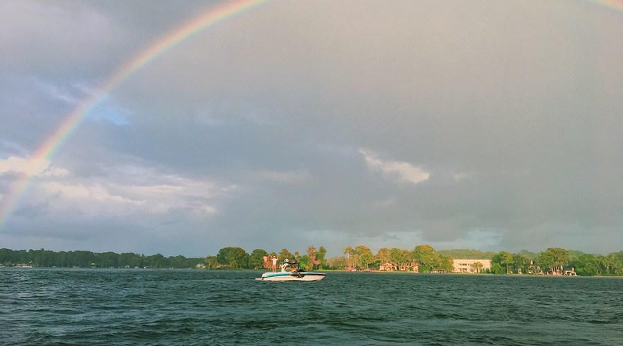 A rainbow in Winter Park, Florida.