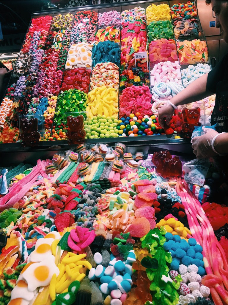 Colorful candy in Barcelona.
