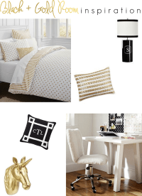 Black and Gold Room Inspiration  The Southern Thing