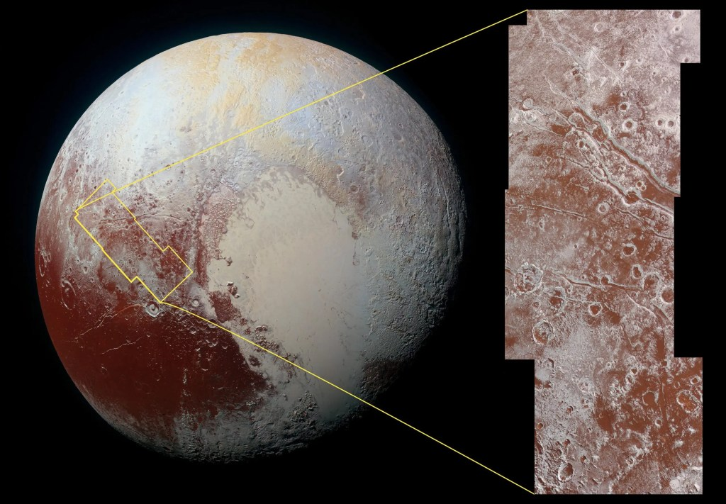 Pluto mapped surface