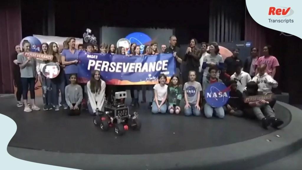 NASA's 2020 Rover perseverance