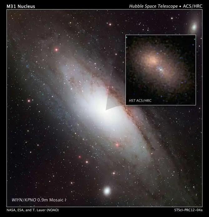 Andromeda Galaxy double nucleus