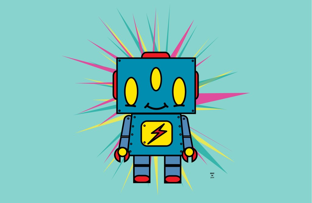 vintage kid robot