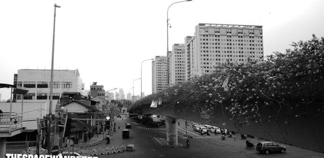 Perempatan Manggarai-Matraman.  30 Juli 2014
