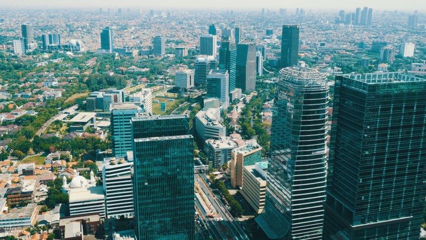Jakarta City Skyline as seen from Westin Hotel's Room, Gama Building