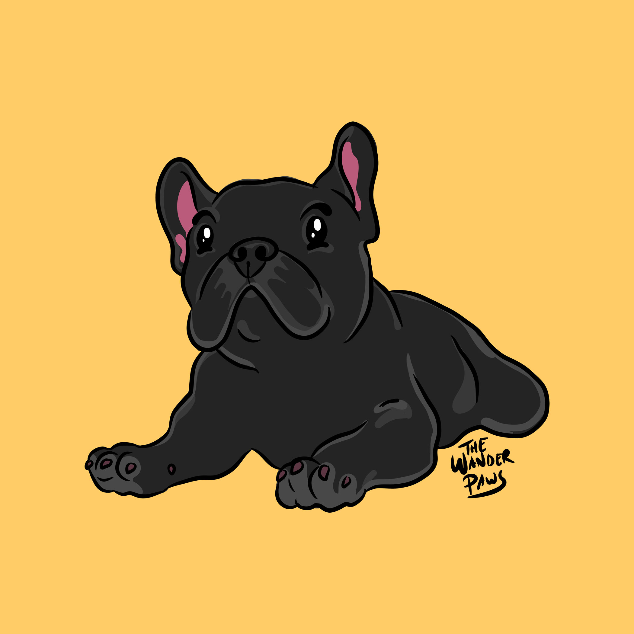 French Bulldog Illustration