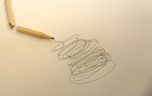 scribble game - scribbles on a piece of paper