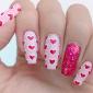 Sparkly Nail Pink Nail Art