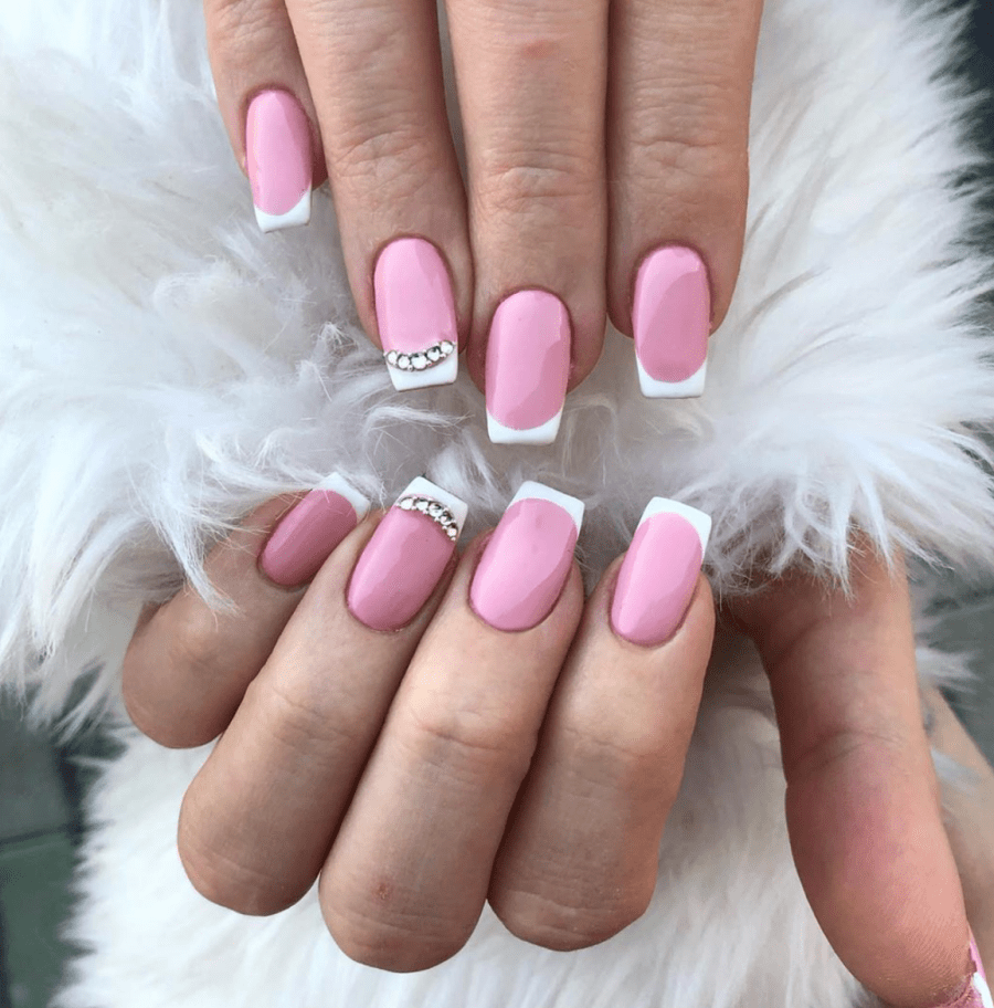 Pink French Manicure_ The Sparkl