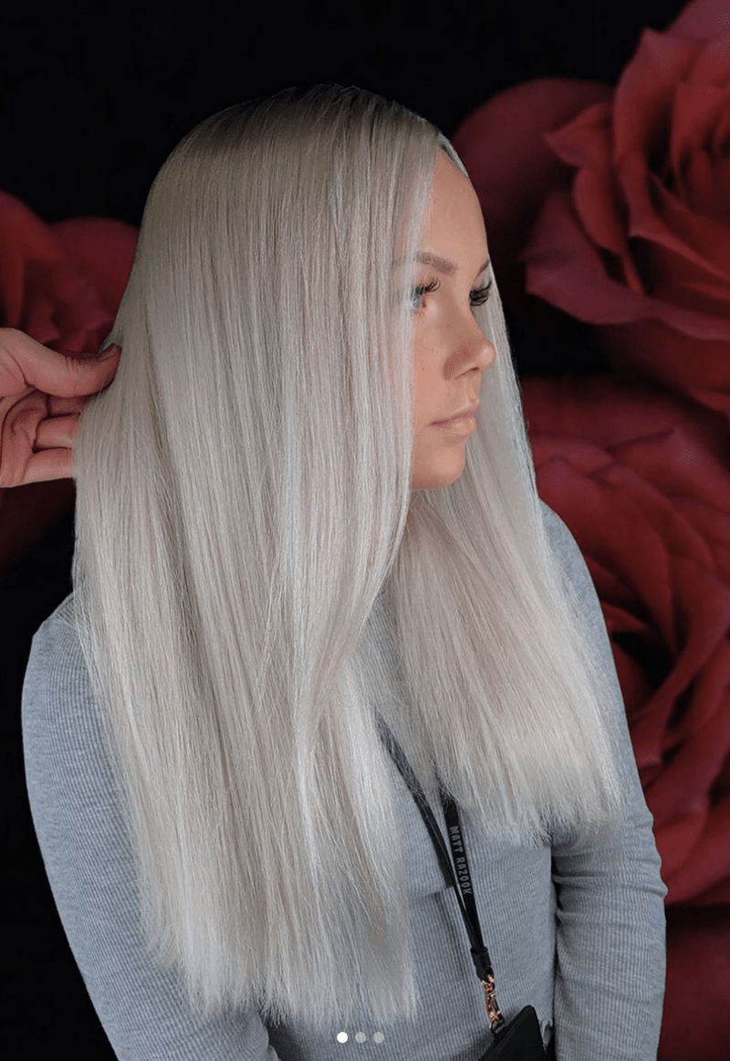 Icy Blonde Hair Color